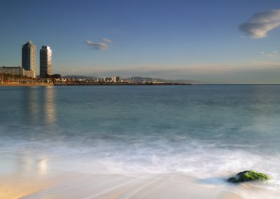 playa-barcelona-piedra-algas
